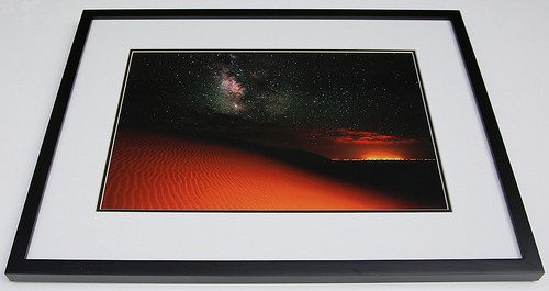 "Framed Photograph of ""Milky Way Gold from Sand Dunes CO"" by Photographer Mike Berenson"